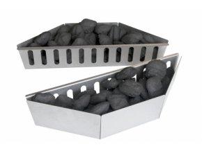 Palivové nádoby do uhelného grilu