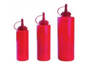 Dávkovač na omáčky červený 700 ml