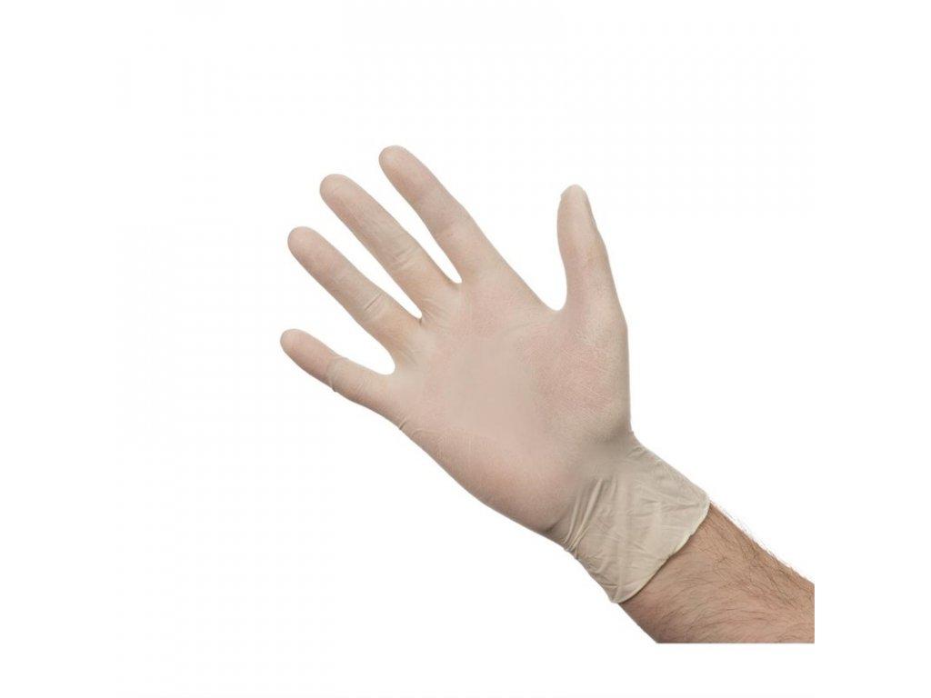 46837 nepudrovane latexove rukavice velikost m