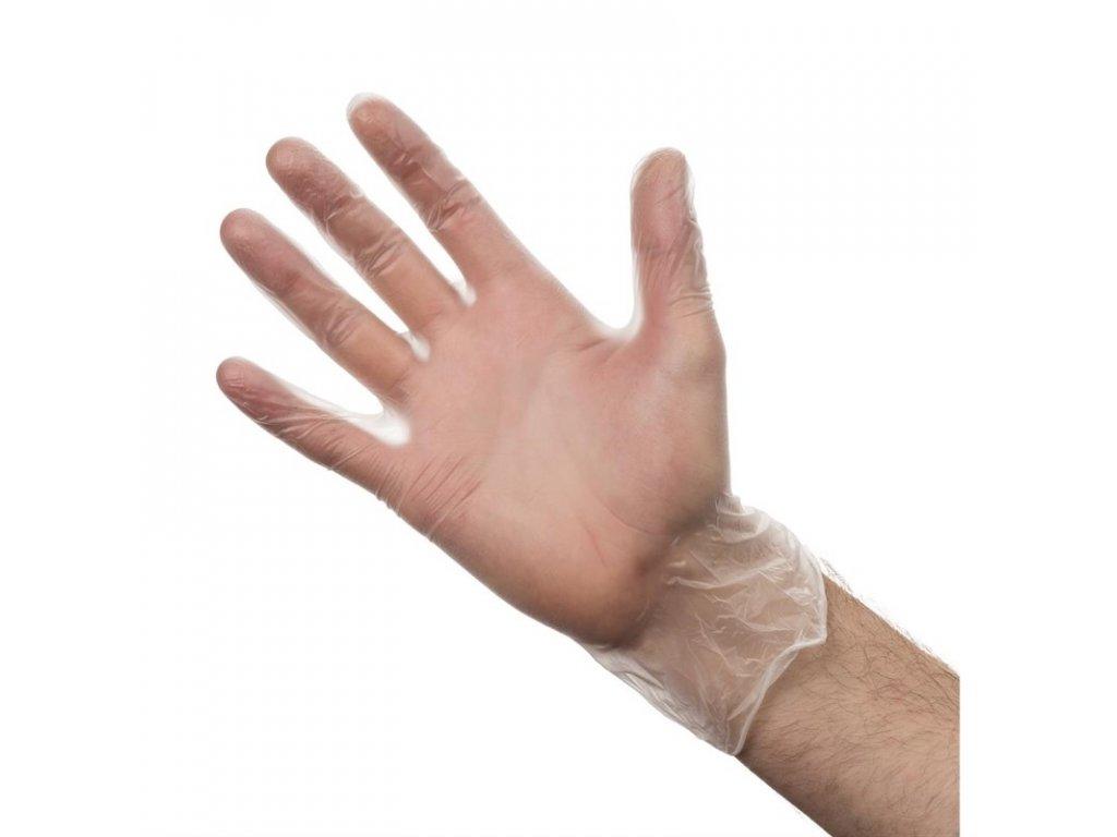 46876 vogue nepudrovane vinylove rukavice velikosti l
