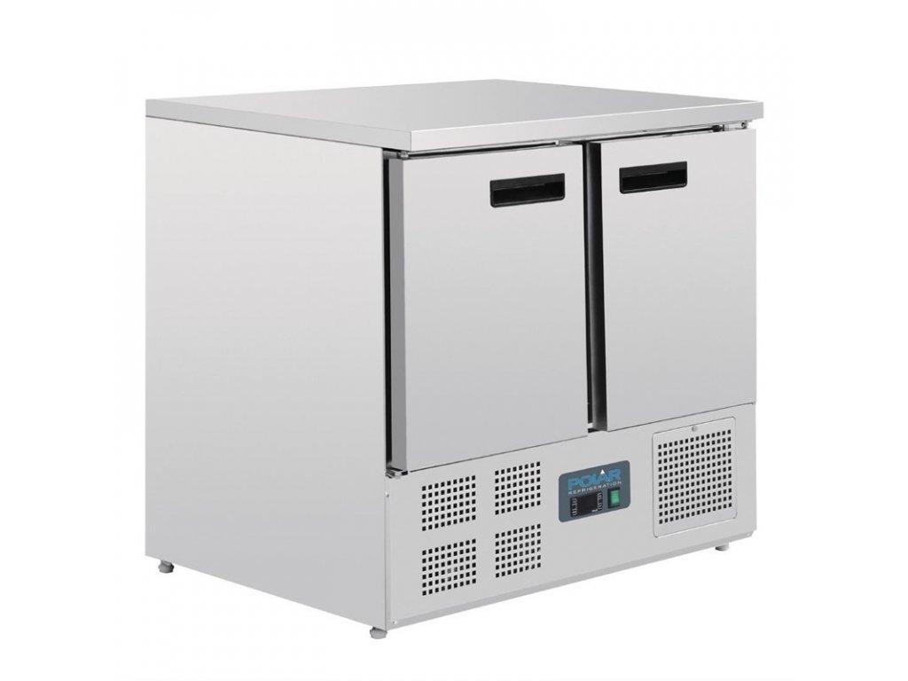 47467 polar dvoudverovy kompaktni chladici stul 240l