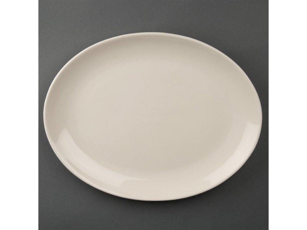 47953 olympia dezertni talire ivory ovalne 330mm