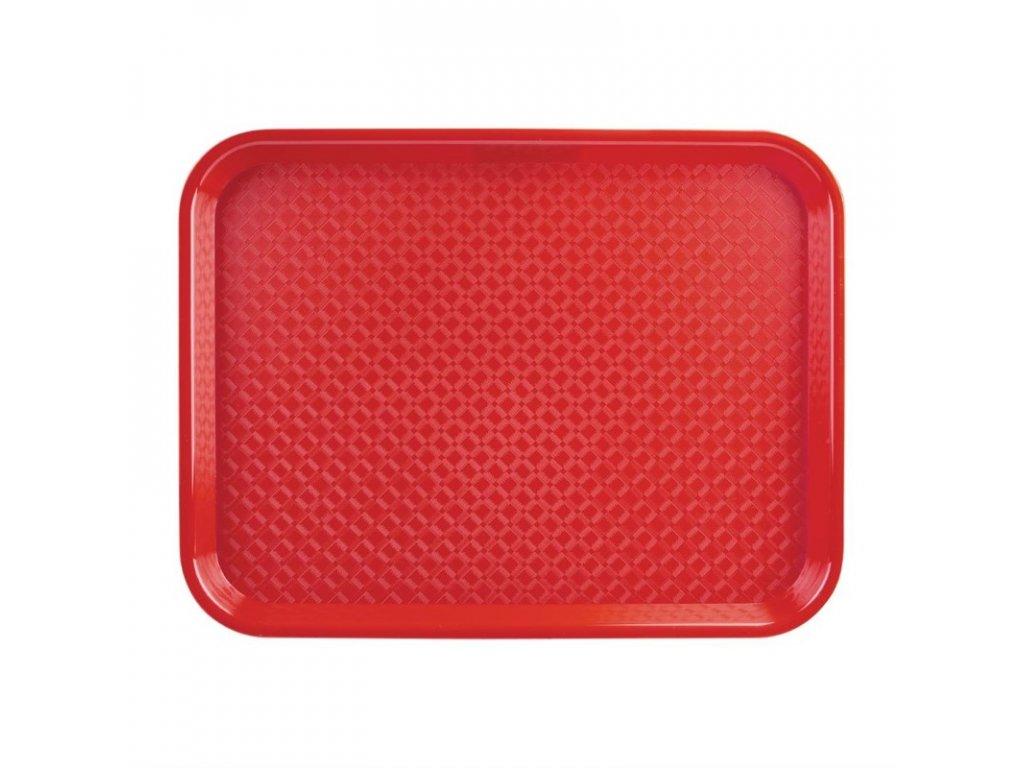 48904 kristallon stredni tac pro rychle obcerstveni plastovy cerveny