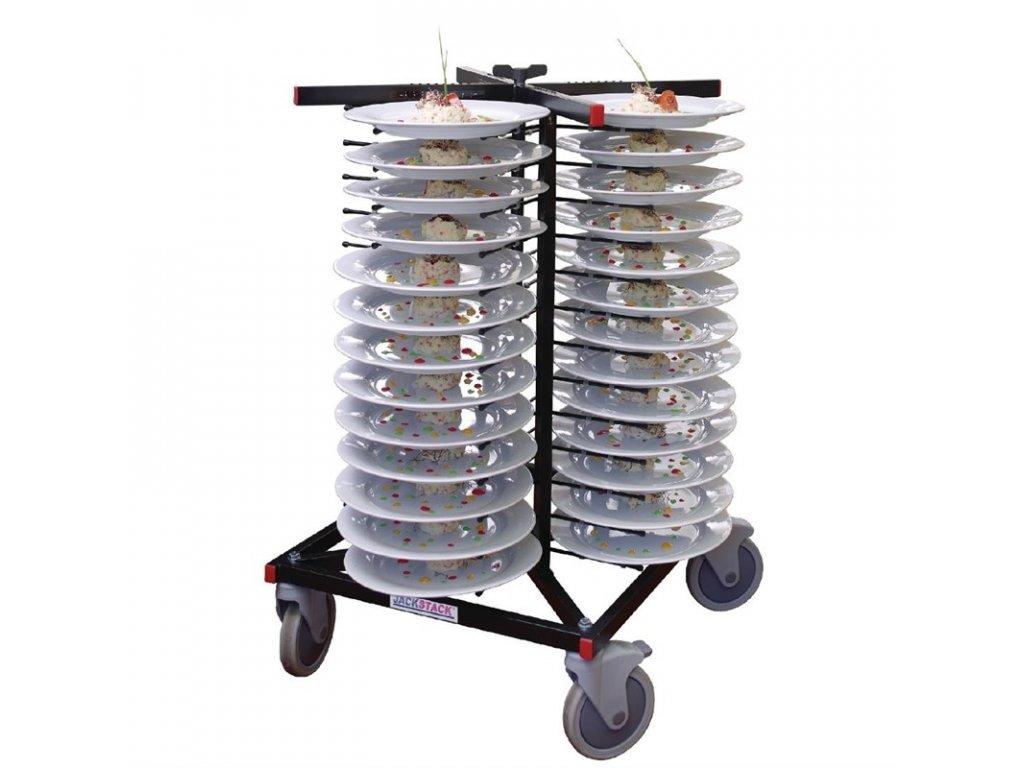 49627 vozik na talire vyrobeny systemem jackstack s kapacitou 52 taliru