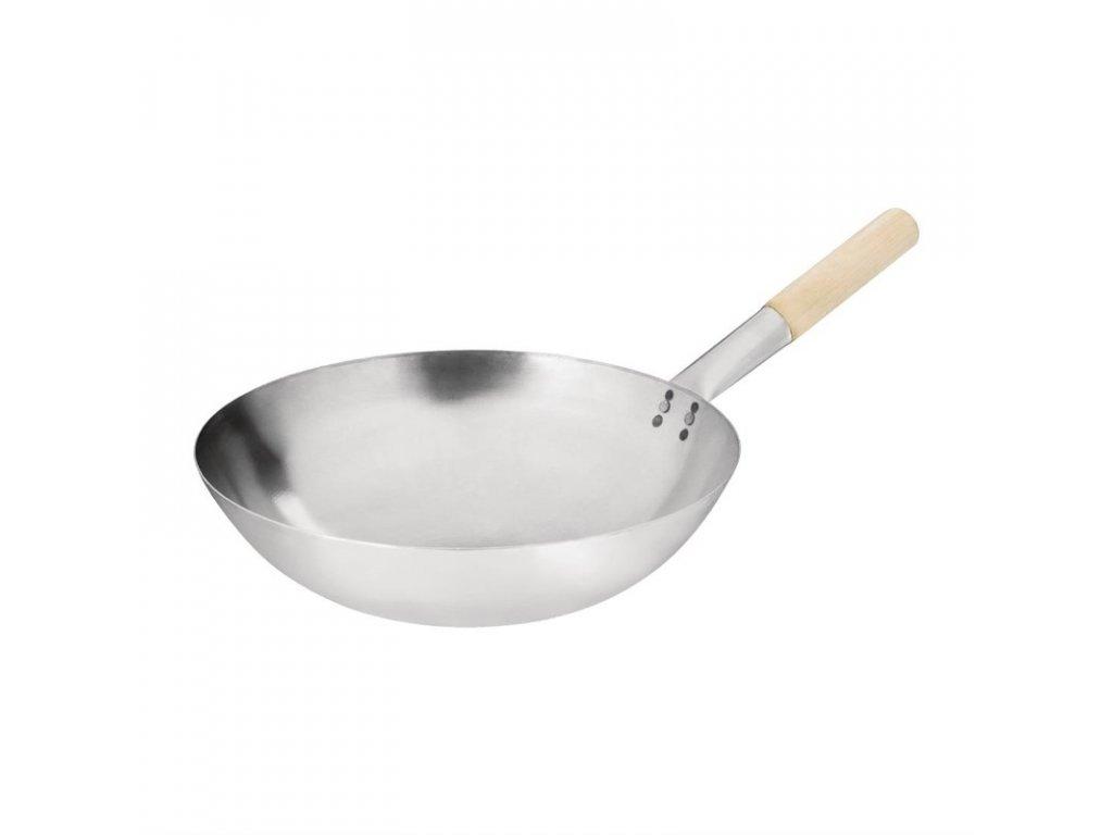 50683 vogue wok z mekke oceli s kulatym dnem 356mm