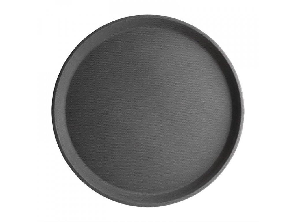 50830 kristallon kulaty protiskluzovy tac sklolaminatovy cerny 356mm