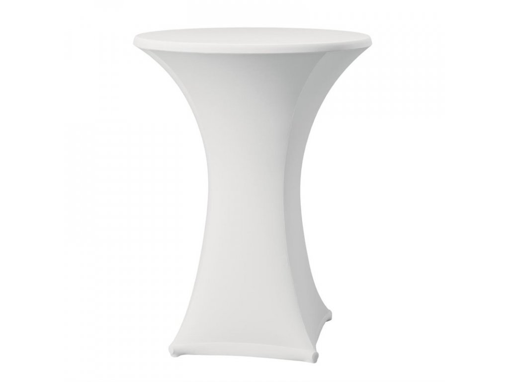 52078 elasticky potah na koktejlove stoly bila