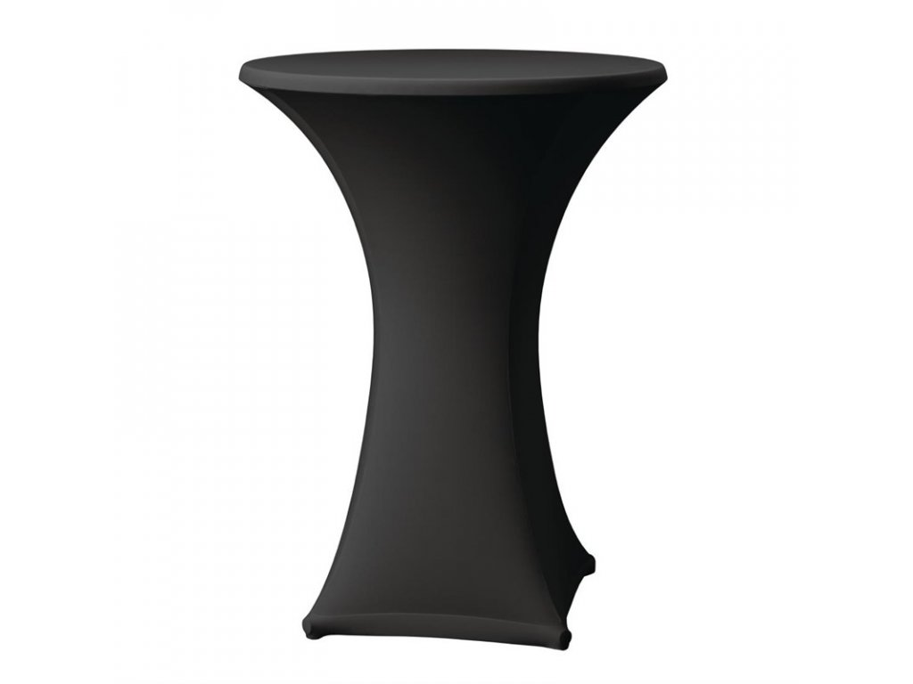 52084 elasticky potah na koktejlove stoly cerna