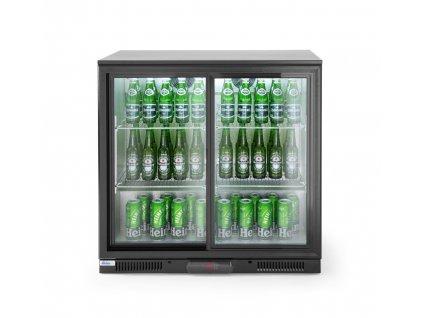 100950 barova chladnicka s posuvnymi dvermi 197l 230v 220w 2 10 c 900x500x h 900 mm