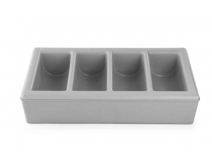100986 zasobnik na pribory se stojanem 6 oddeleni grey 530x325x h 215 mm