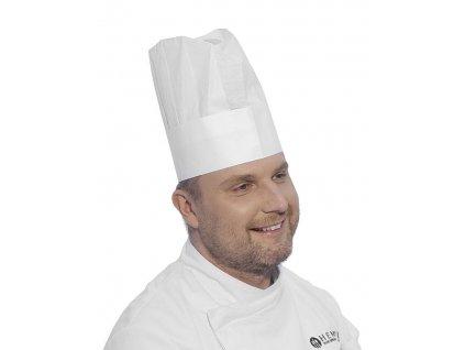 101307 kucharska cepice 10 ks white 600x h 230 mm