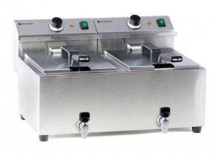 103302 friteza mastercook s vypusti 2x 8 l 16 l 230v 7000w 605x515x h 345 mm