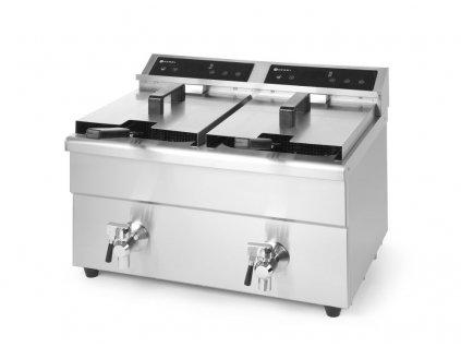 103449 indukcni friteza kitchen line dvojita 16 l 230v 7000w 580x485x h 406 mm