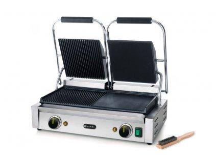 103620 kontaktni gril double verze pulka hladka pulka vroubkovana 230v 3600w 570x370x h 210 mm