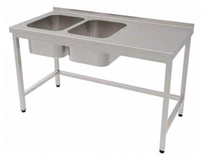 Mycí stoly s dvoudřezem, šířka 70 cm, délky 110 - 280 cm