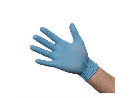 46795 nitrilove rukavice nepudrovane m