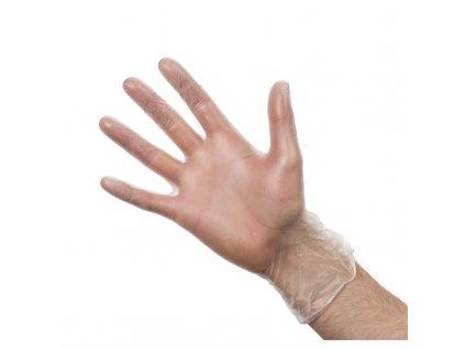46855 vogue vinylove rukavice pro pripravu jidel cire pudrovane velikost xl