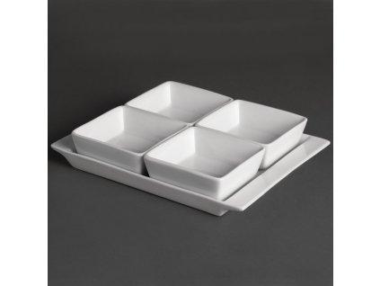 47329 olympia misky whiteware se 4 oddily a podnosem