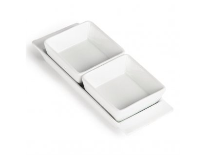 47335 olympia dvojite misky na obcerstveni whiteware s podnosem