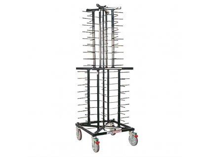 49630 vozik na talire vyrobeny systemem jackstack s kapacitou 72 taliru