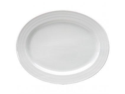 52915 intenzzo ovalny podnos white 30 x 24cm
