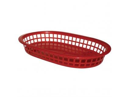 55426 ovalny kosik na potraviny polypropylenovy cerveny