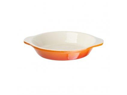 55675 vogue zapekaci misa litinova kulata oranzova 400ml