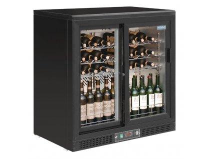 55783 polar horizontalni chladici skrin na vino s posuvnymi dvermi