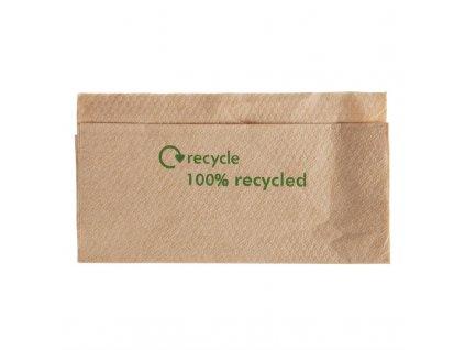 55861 obedove ubrousky z kraftoveho papiru recyklovane 330 320mm