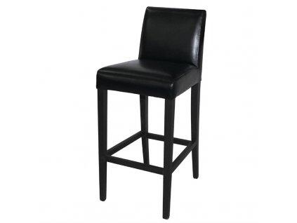56104 bolero vysoka barova stolicka z umele kuze cerna