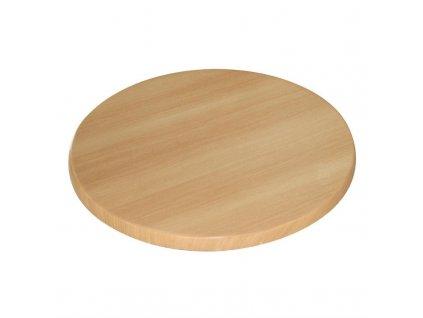 56119 bolero stolova deska kulata v dekoru buku 600mm