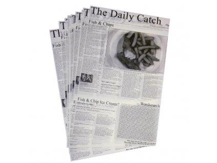 56857 ctverce pergamenoveho papiru s novinovym potiskem