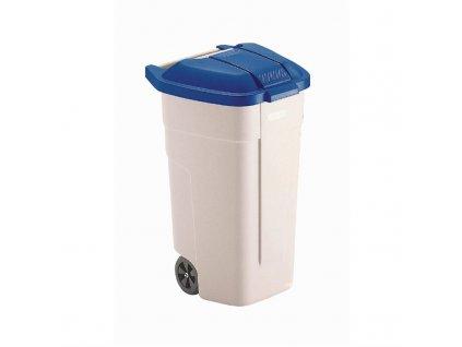57745 rubbermaid mobilni popelnice 100l modre viko