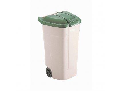 57748 rubbermaid mobilni popelnice 100l zelene viko