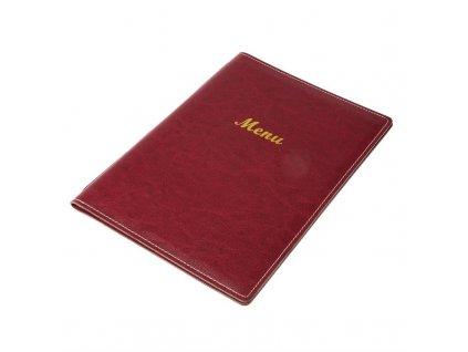 58384 olympia desky na menu z umele kuze a4 vinove