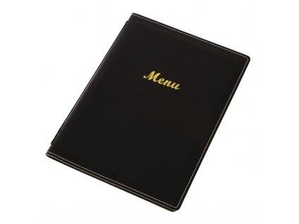 58387 olympia desky na menu z umele kuze a4 cerne