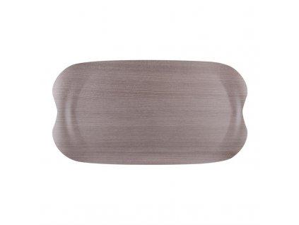 59374 roltex servirovaci tac wave v dekoru sedeho dreva 430 230mm