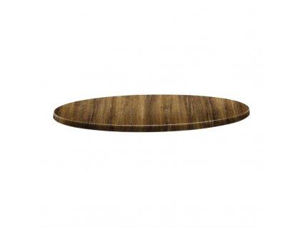 59617 topalit kruhova stolova deska s klasickym tvarem odstin tresen atacama 800mm