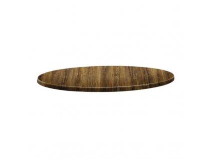 59623 topalit kruhova stolova deska s klasickym tvarem odstin tresen atacama 600mm