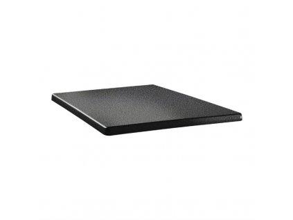 59707 topalit ctvercova stolova deska s klasickym tvarem antracitova 700mm