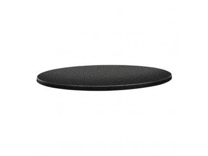59713 topalit kruhova stolova deska s klasickym tvarem antracitova 800mm