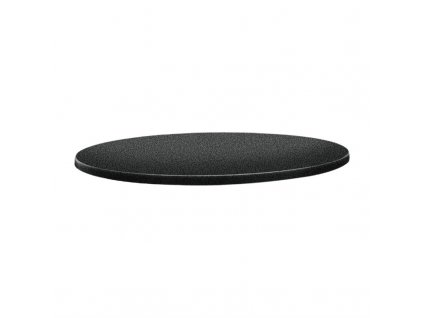 59716 topalit kruhova stolova deska s klasickym tvarem antracitova 700mm