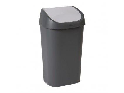 60580 curver cerny odpadkovy kos s vyklopnym vikem 50l