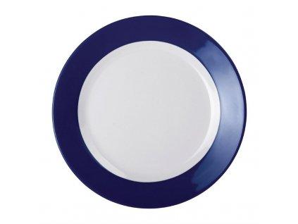 62056 kristallon gala melaminovy talir s barevnym okrajem modry 195mm