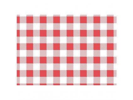 64594 cerveny pergamenovy papir gingham 310 380mm