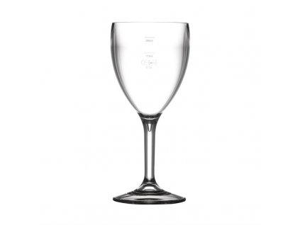 64996 bbp polykarbonatove sklenice na vino 310ml se znackou ce ve 175ml a 250ml