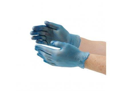 65227 vogue vinylove rukavice pro pripravu jidel modre bez pudru velikost m