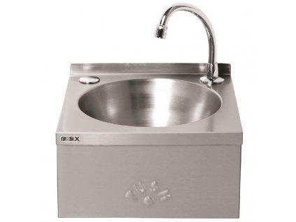 66676 basix nerezove umyvadlo na ruce ovladane kolenem