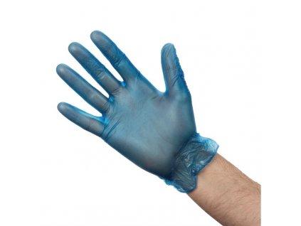 67441 vogue vinylove rukavice pro pripravu jidel modre pudrovane velikost m