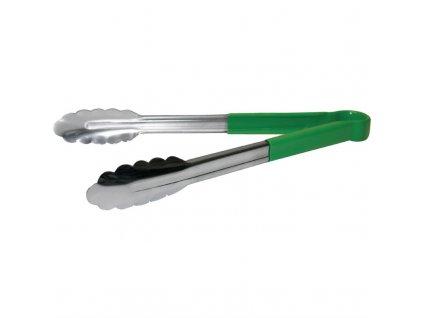 67501 vogue servirovaci kleste barevne rozlisene zelene 290mm